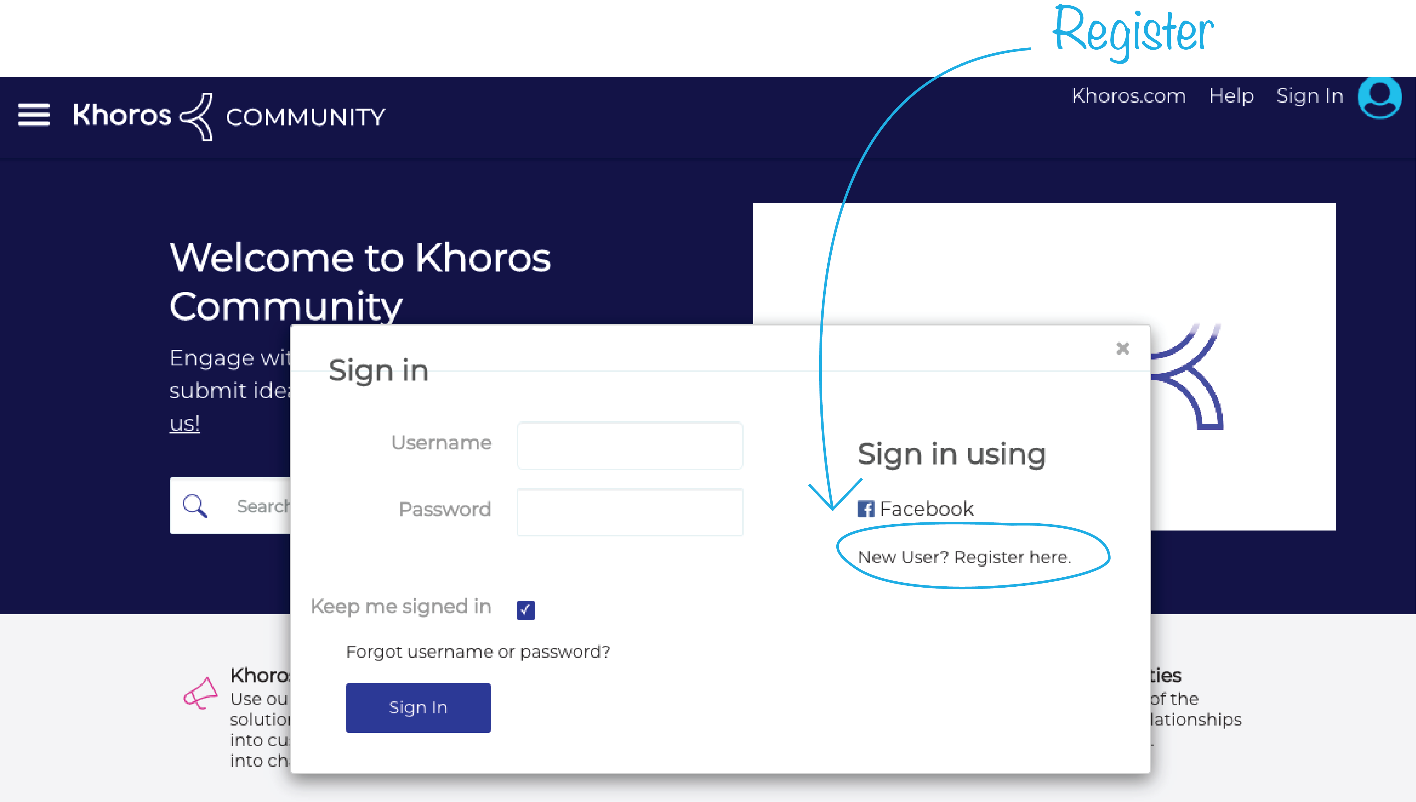 Register to join khoros online community